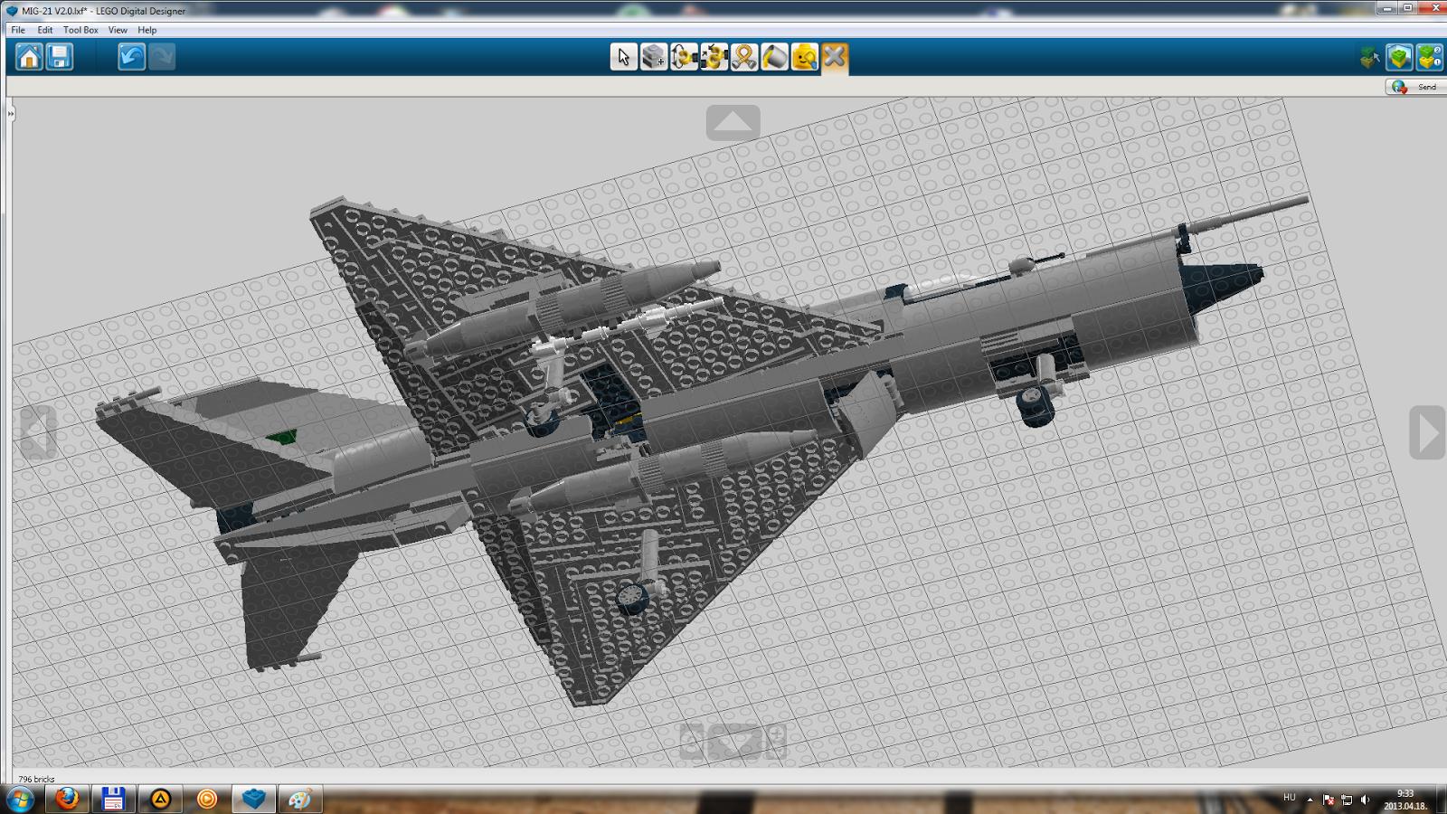 KOCKAGENERCI / LEGO blog : LDD szria: Mig-21 (haladok :-))