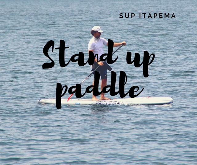 Stand up paddle nas águas calmas de Itapema