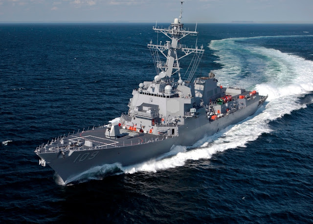 US Warship Sails to South China