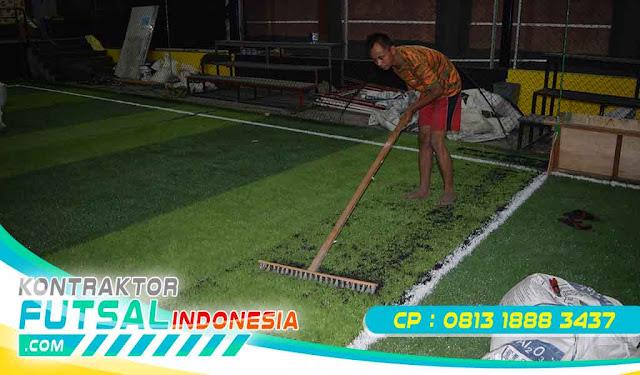 rumput sintetis lapangan futsal di wilayah Riau