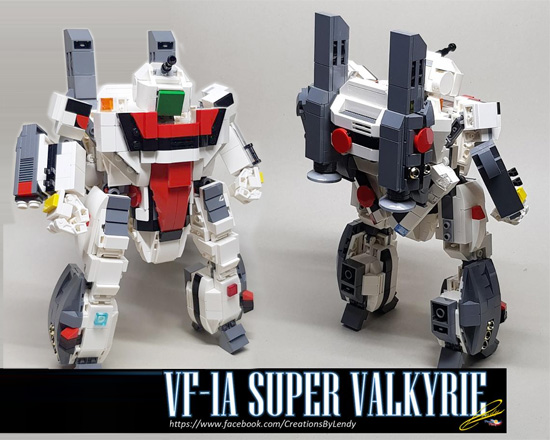 LEGO Macross Chibi VF-1J and Chibi Valkyrie by Len_d69 Creations