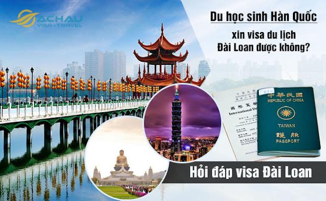 Đang du học ở Hàn Quốc có xin visa du lịch Đài Loan được không?