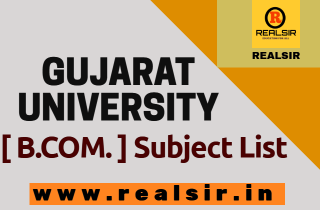 Gujarat University B.com Subject List