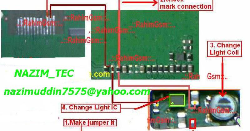 nokia 1202 light ways jumper solution display lights