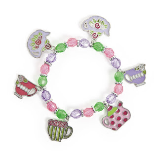 Tea party charm bracelet set is perfect for your tea party craft. It comes with enough to make 12 bracelets.