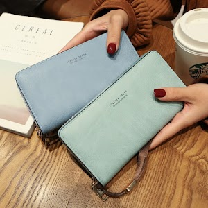Brand Designer PU Leather Long Womens Wallets and Purses