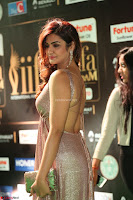 Telugu Actress Aarthi in Deep Neck Backless Golden Gown at IIFA Utsavam Awards 2017 Exclusive 08.JPG