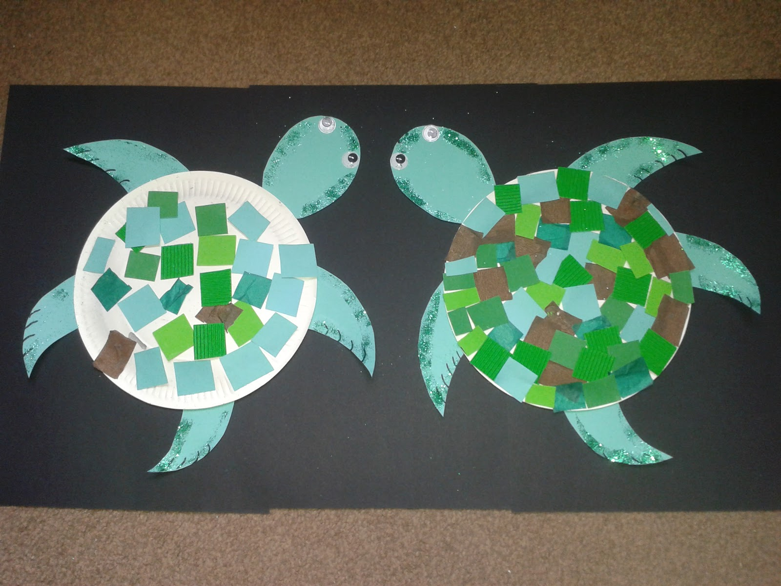 Home At The Heathers Shark And Turtle Paper Plate Crafts