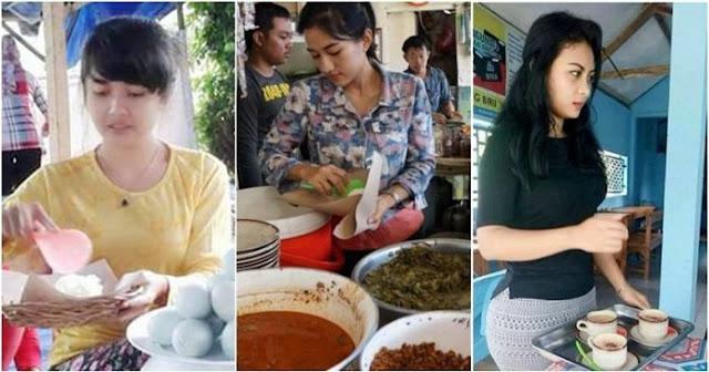 5 Pedagang Cantik nan Seksi Ini Bikin Konsumennya Susah Makan