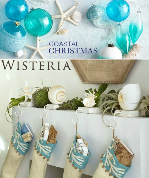 Coastal Christmas Decor at Wisteria