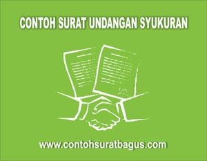 Gambar untuk Contoh Surat Undangan Syukuran Wisuda, Rumah Baru dan Pernikahan