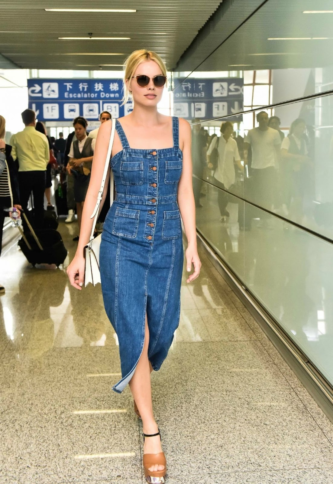 Margot Robbie Arrives At Airport In Peking