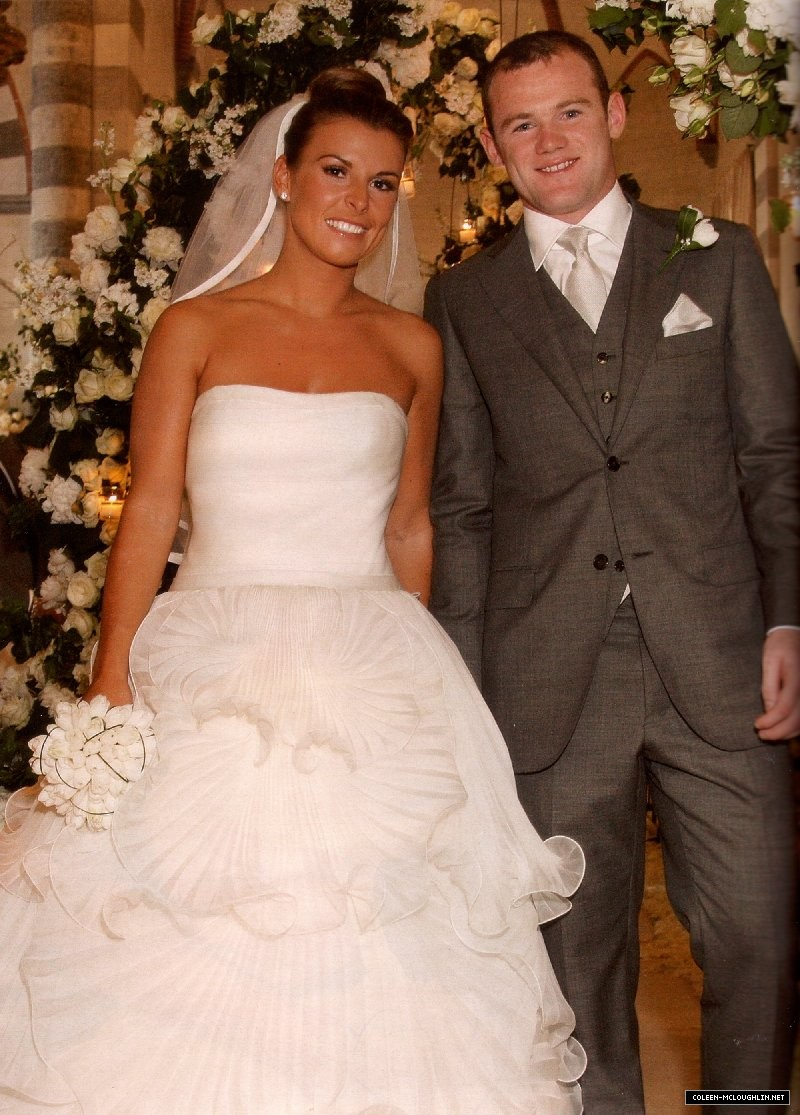 Image result for Wayne Rooney na Coleen McLoughlin wedding