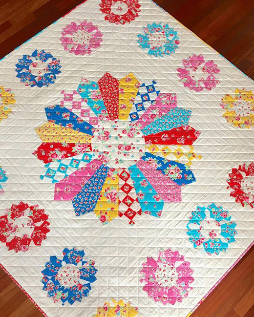 The Flower Sugar Very Berry Cherry Quilt Free Pattern
