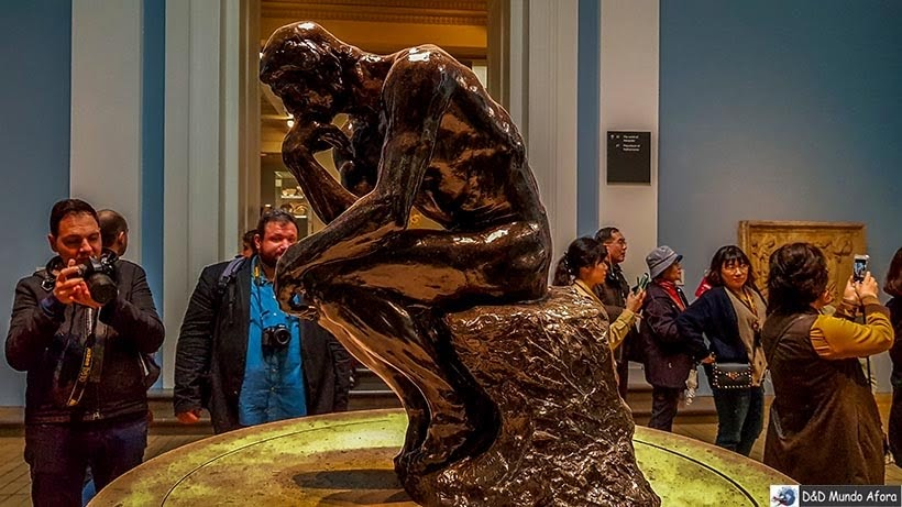 O Pensador, do francês Rodin no British Museum em Londres