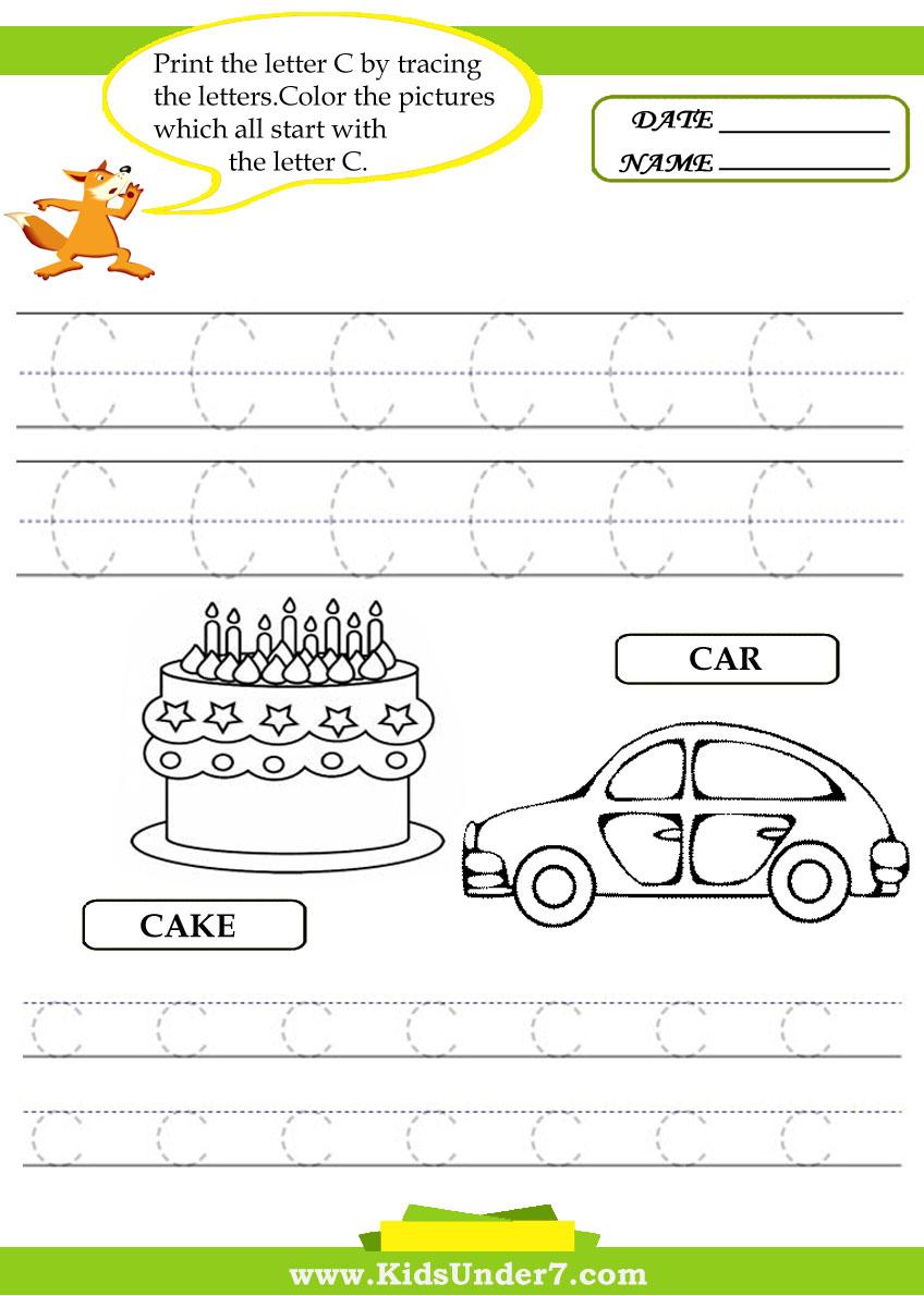 Workbooks left right worksheets : Kids Under 7: Alphabet worksheets.Trace and Print Letter Ð¡