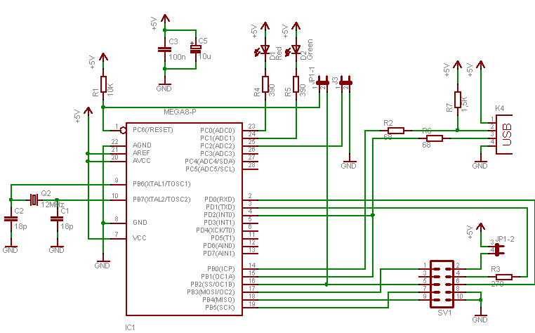 Simple Programmer Avr Your Usb Circuit Diagram
