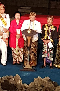 Presiden Jokowi Tetap Menutup Festival keraton Nusantara XI
