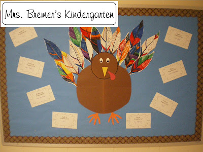 Thanksgiving Turkey Bulletin Board
