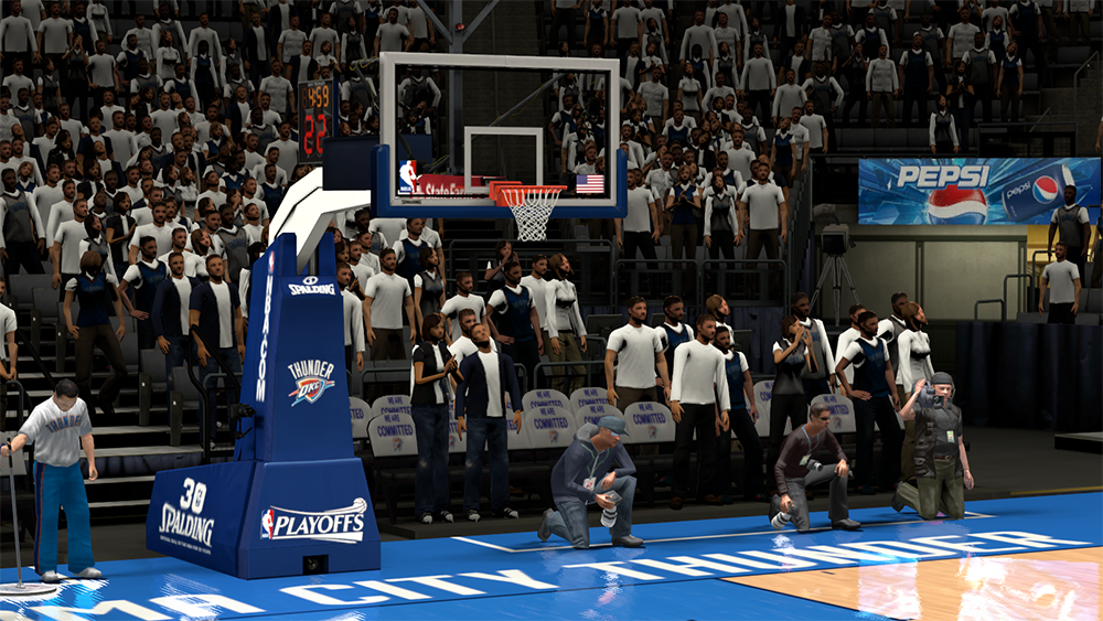 NBA 2K14 OKC Thunder Playoffs Backboard/Stadium Mod