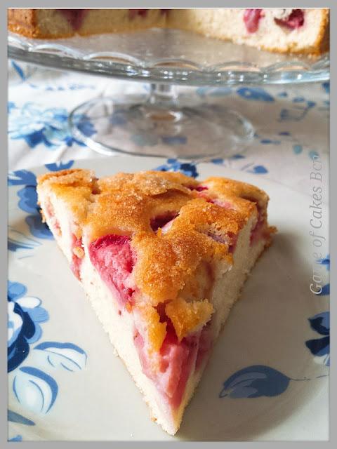 tarta de vainilla y fresas