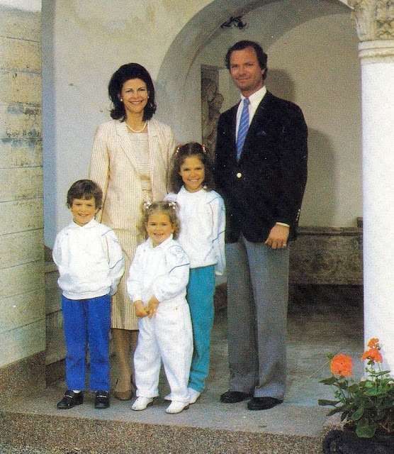 King Carl XVI Gustaf, Queen Silvia, Crown Princess Victoria, Princess Madeleine and Prince Carl Philip of Sweden