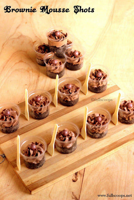 Brownie Mousse Shots