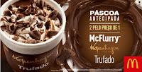 McFlurry Kopenhagen Trufado, 2 por 1 no McDonalds!