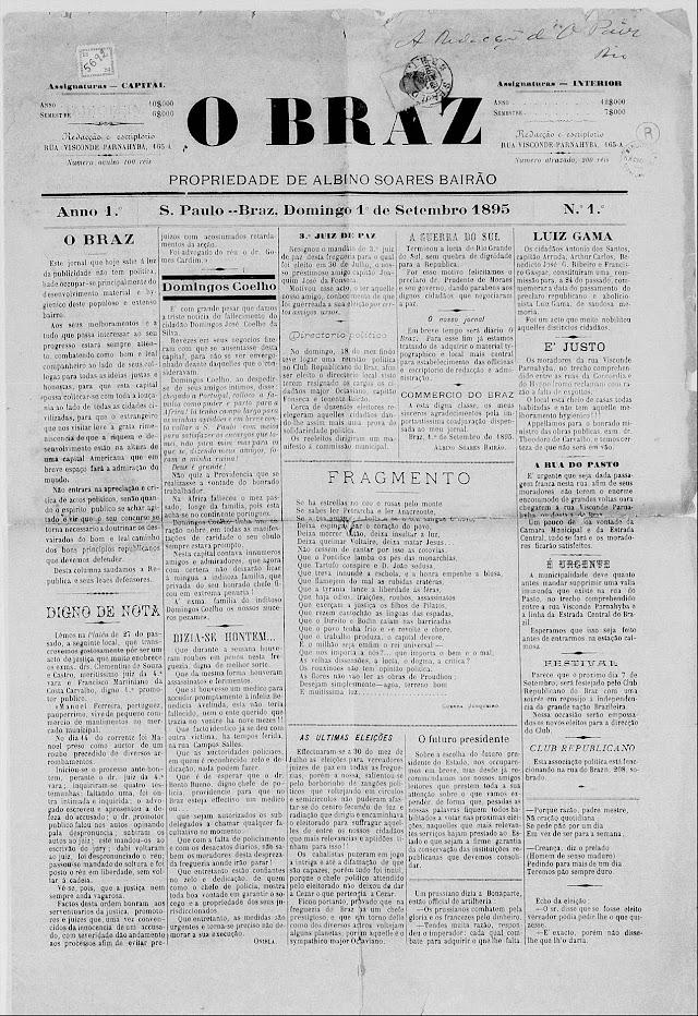 Leia o primeiro jornal de bairro de São Paulo - O BRAZ