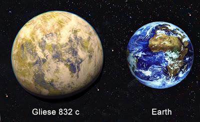 gliese 832 c ve dünyamız