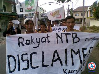 APBD Pemprov NTB Disclaimer, Mahasiswa Gelar Aksi Keprihatinan