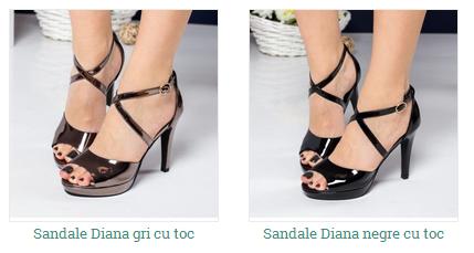 sandale negre, bronz lacuite de ocazie