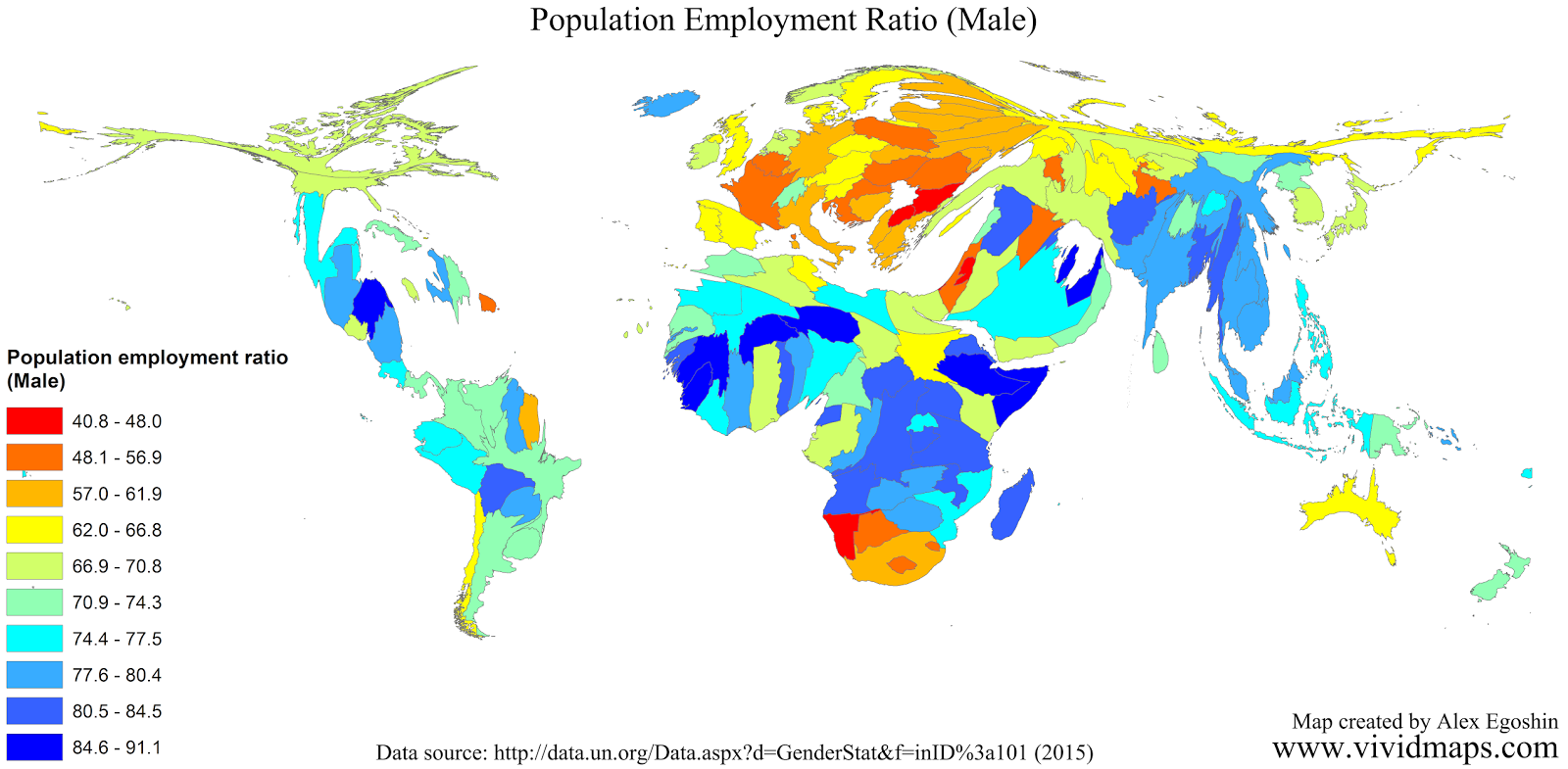 Population employment ratio (Male)