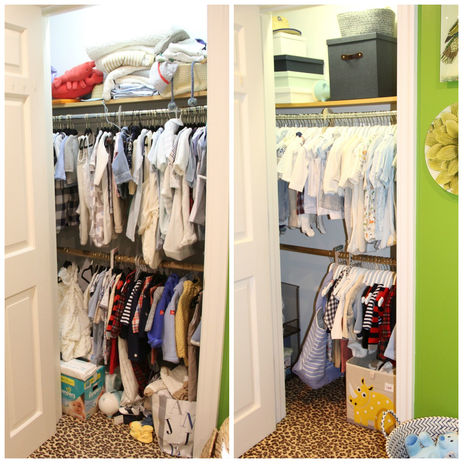 NURSERY CLOSET MAKEOVER WITH THE CONTAINER STORE