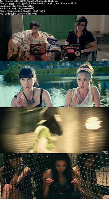 Kick Ass Girls 2013 BRRip 480p Dual Audio Hindi