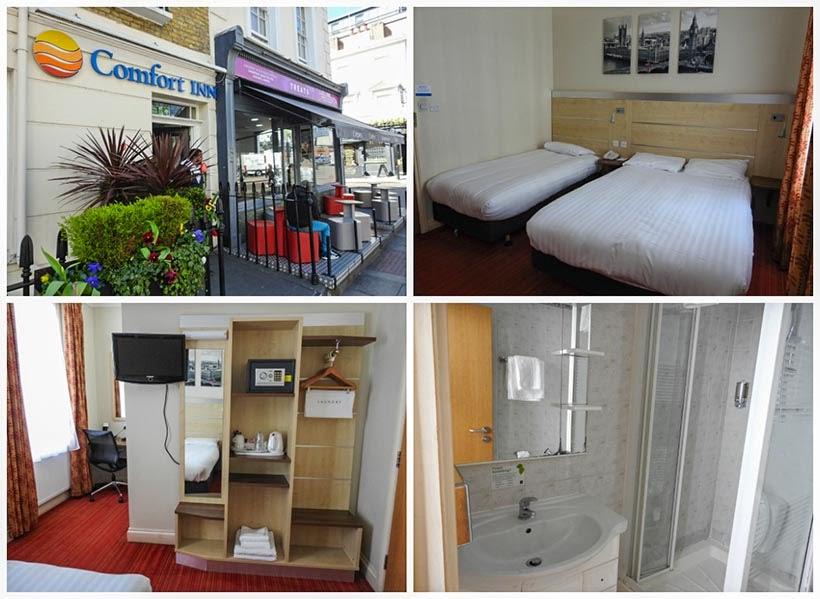 Diário de Bordo - 5 dias em Londres - Hotel Comfort Inn Victoria
