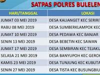 Jadwal SIM Keliling Buleleng Mei 2019