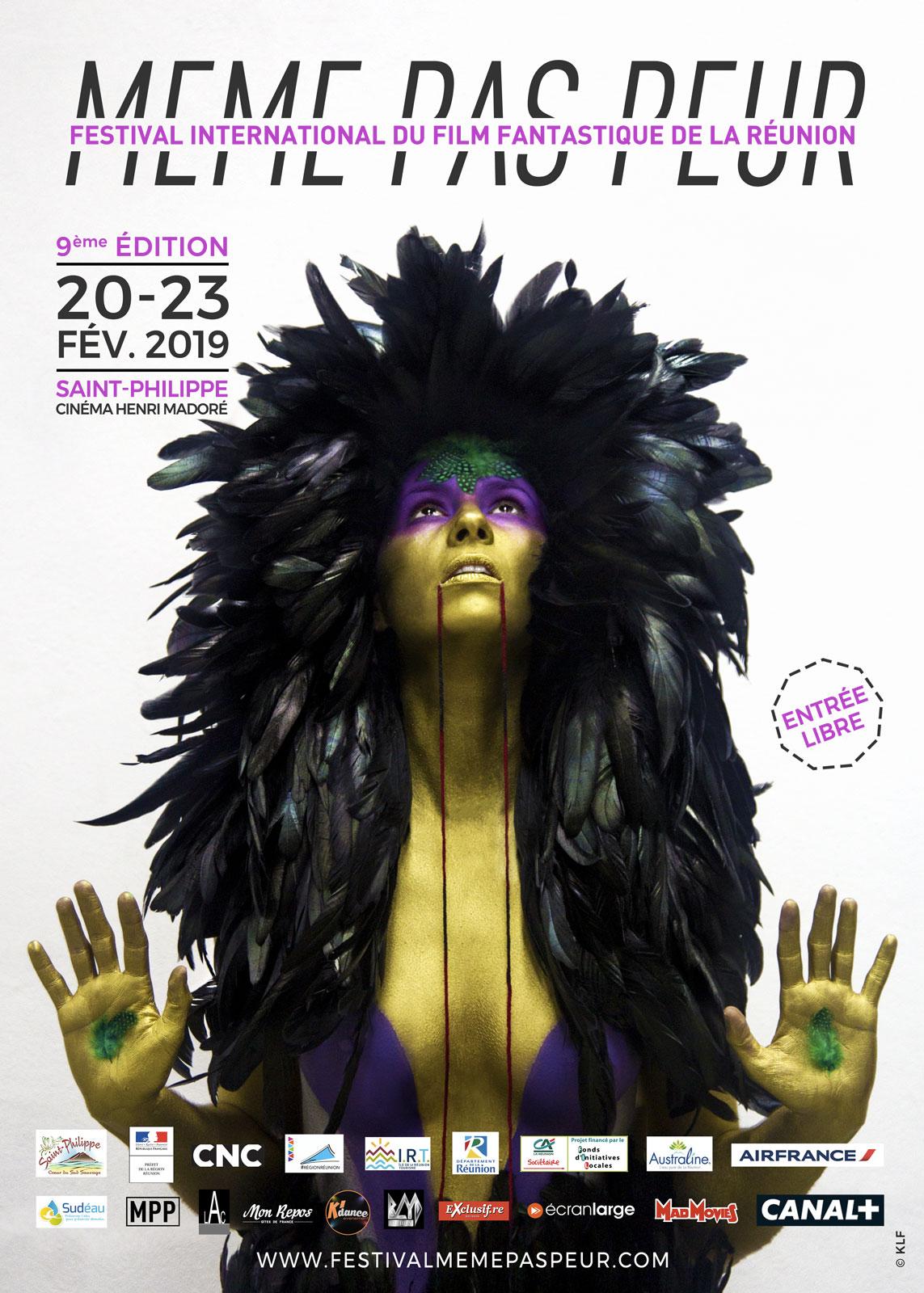 Affiche de la 9ème édition du Festival MEME PAS PEUR