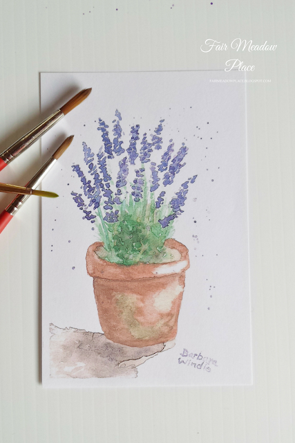 A Trip to the Lavender Farm Original Watercolour