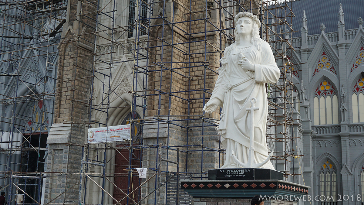 St Philomena Statue