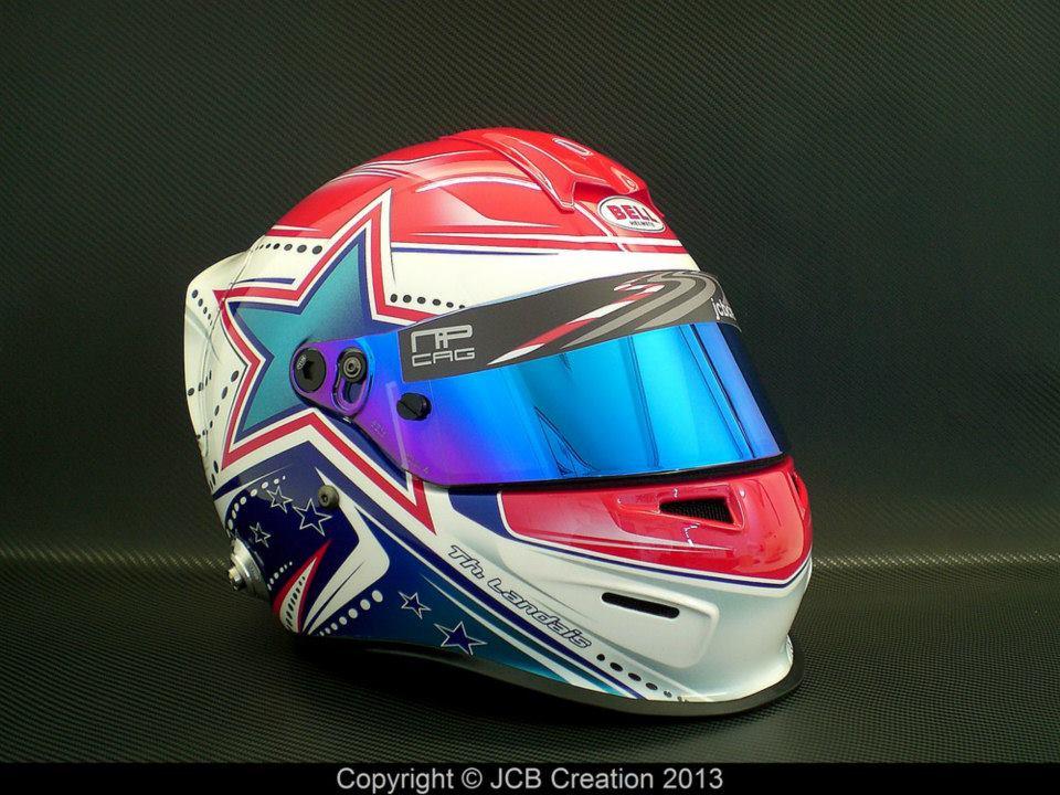 3daa08d2 Racing Helmets Garage: Bell RS3 Pro T.Landais 2013 by JCB Création