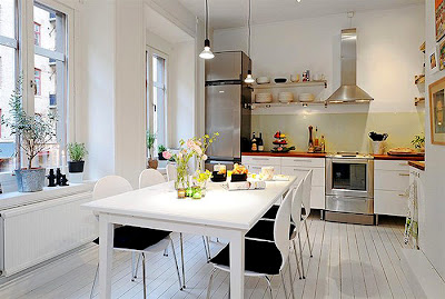 The White Interior Design In This Contemporary Apartment Brings Pure Color Modern Kitchen Northern European
