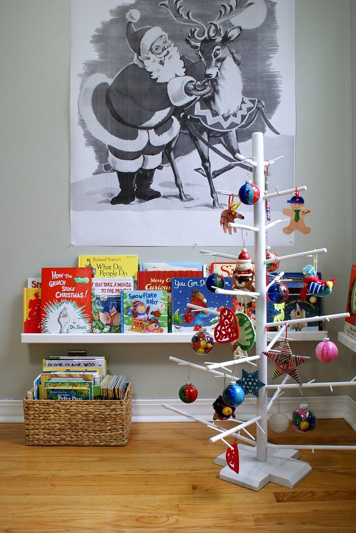 Wooden Dowel Kids Christmas Tree, Retro Engineering Print