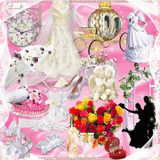 conjunto do casamento: molduras recortes