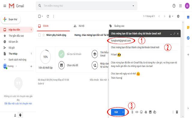 Đăng nhập Gmail - Hướng dẫn gửi Email