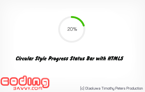 How to Create a Circular Shape Progress Bar Using HTML5 Canvas