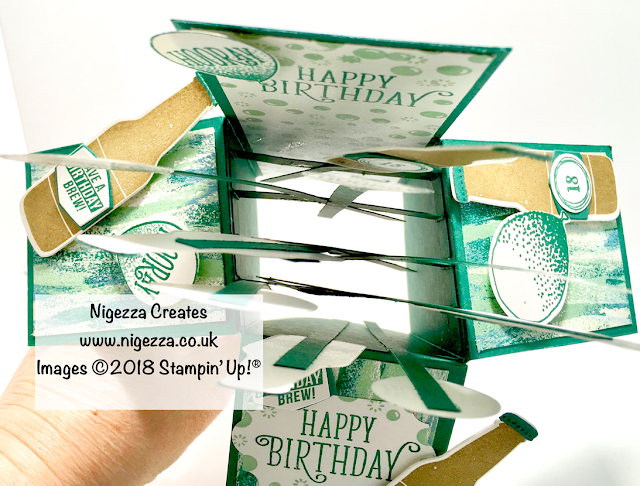 Nigezza Creates InspireINK Blog Hop: Exploding 18th Birthday Card