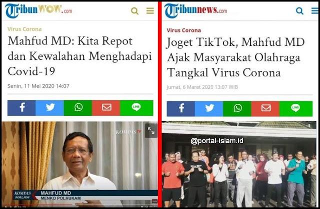 Mahfud MD Joget TikTok sekarang Kwalahan dengan Corona