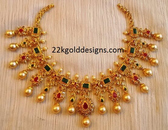 Gemstone Uncut Diamond Choker Necklace