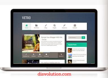 Template Terbaru 2017 Flat Vetro Seo Responsive Download Gratis